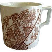 "F. Winkle & Co. Brown Transfer-Ware ""Melbourne""Pattern Mug"