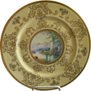 Pickard Studio Hand Painted 'Scenic' Charger w/Gold Decoration - Signed Challinor, Plate 2 of 12