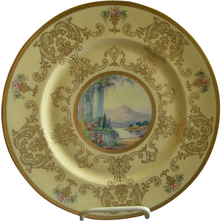 Pickard Studio Hand Painted 'Scenic' Charger w/Gold Decoration - Signed Challinor, Plate 3 of 12