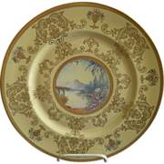 Pickard Studio Hand Painted 'Scenic' Charger w/Gold Decoration - Signed Challinor, Plate 4 of 12