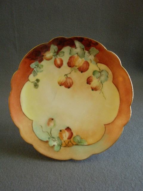 Pr Of Home Studio Hand Painted Cabinet Plates W