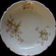 PH Leonard, Vienna, Austria, Porcelain Set of 6 Fruit/Sauce Bowls w/Pink & White Rose Motif