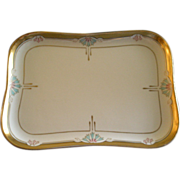 "Pickard Studio Hand Painted ""Russian Flowers"" Series, Dresser/Vanity Tray"