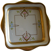 """Pickard Studio Hand Painted """"Russian Flowers"""" Series, Candy Dish"""