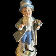 "Sandizell, Hoffner & Co. Dresden ""Young Lad w/Bouquet"" Figurine"