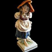 """Capodimonte """"Peasant Girl"""" Figurine"""