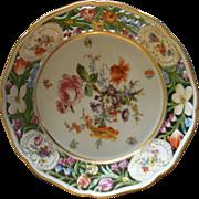 Von Schierholz Reticulated Bowl w/Dresden Flower Motif
