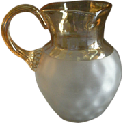 New England Glass Company 'Pomona' Second Grind Inverted Thumbprint Pitcher