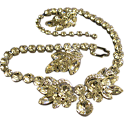 Eisenberg Ice Demi-Parure - Diamond Rhinestone Necklace & Earrings