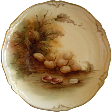 Pickard Studio Hand Painted Cabinet Plate w/Naturalistic Peanuts Motif