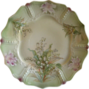Porcelain Cabinet Plate w/Lily Of The Valley Transfer Motif