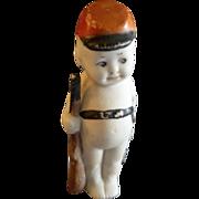 """Bisque """"Kewpie-Type"""" Soldier Boy Figurine - 4"""" in height"""