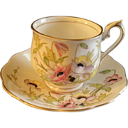 Royal Albert Bone China 'Gloria' Pattern Tea Cup & Saucer