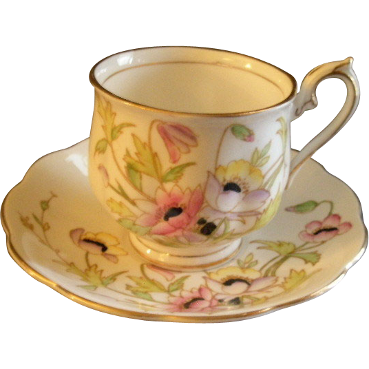 Royal Albert Bone China 'Gloria' Pattern Tea Cup & Saucer