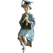 "Lladro ""Girl Graduate"" Porcelain Sculpture #01599"