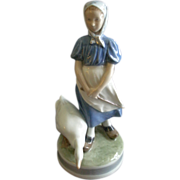 "Royal Copenhagen ""Girl With Goose"" Figurine #527"