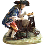 "Ernst Bohne Sohne/Volkstedt Germany Porcelain Figurine ""Shoe Maker At Work"""