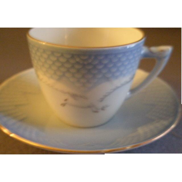 "Bing & Grondahl Porcelain ""Seagull"" Cup & Saucer #305"