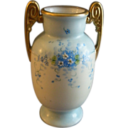 Stouffer Studio Hand Painted Vase w/Forget-Me-Not Flowers