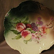 "Z. S. & Co. Bavaria ""Marseille"" Cabinet Plate w/Transfer Fruit Motif"