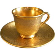 """Set of 6 Wheeling Decorating Company """"AOG Roses, Daisies & Doves"""" Demi-Tasse Cups & Saucers"""