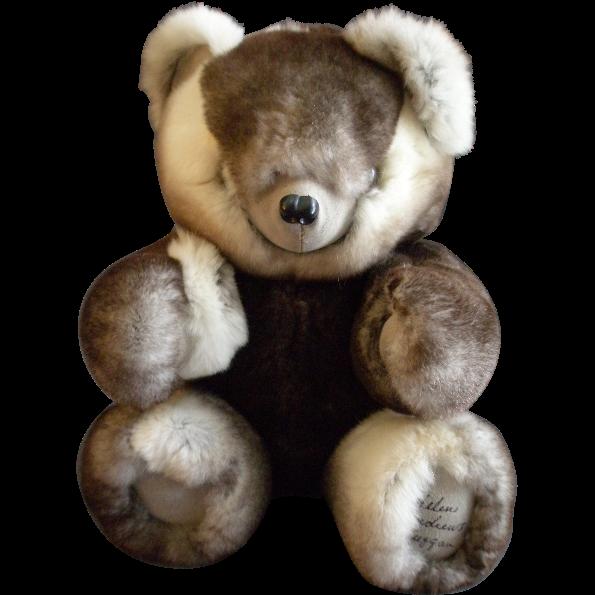 vintage fur teddy bear by helen duggan palm beach bears