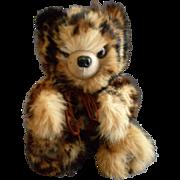 "Vintage Fur Teddy Bear by Helen Duggan ""Palm Beach Bears"" - Leopard Spotted Rabbit"
