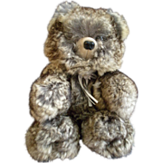 "Vintage Fur Teddy Bear by Barry & Sue Dovaston ""Basu Enterprises"" - Chinchilla"