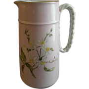 Charles Haviland & Co., Limoges Hand Painted Floral Pitcher w/Nautical Anchor & Rope Handle