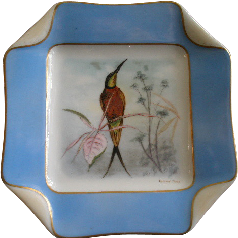 3 of 5 Haviland & Co. Limoges Hand Painted Bird Plates, Circa 1880's