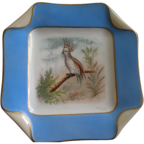 4 of 5 Haviland & Co. Limoges Hand Painted Bird Plates, Circa 1880's