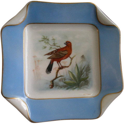 5 of 5 Haviland & Co. Limoges Hand Painted Bird Plates, Circa 1880's