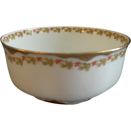 haviland china haviland co limoges red flowers green leaves pattern from