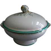 David Haviland & Co., Limoges Factory Decorated Covered Vegetable Tureen w/Artichoke Finial - Circa 1865