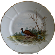 "G. Demartine & Co. Hand Painted ""Bird"" Game Plate - 2 of 4"
