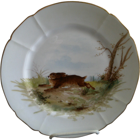 "G. Demartine & Co. Hand Painted ""Rabbit"" Game Plate - 4 of 4"