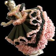 """Muller-Volkstedt Irish Dresden """"Florisita"""" Spanish Dancer Figurine"""