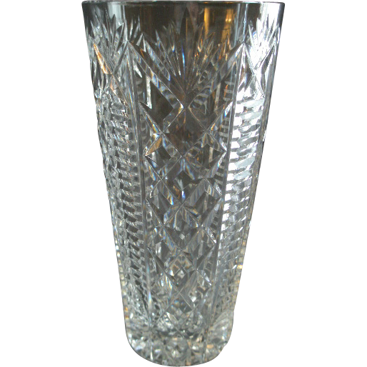 "Waterford Crystal ""Clare"" Pattern Vase"