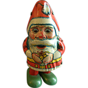 J Chein Co. 'Walking Santa' Tin Wind-Up Toy
