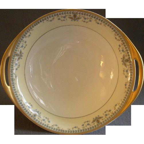 "Haviland & Co. Limoges Arts & Crafts ""English Oatmeal"" Pattern - Round Serving Bowl"