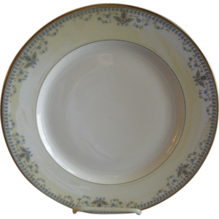 "Haviland & Co. Limoges Arts & Crafts ""English Oatmeal"" Pattern - Set of 6 Dinner Plates"