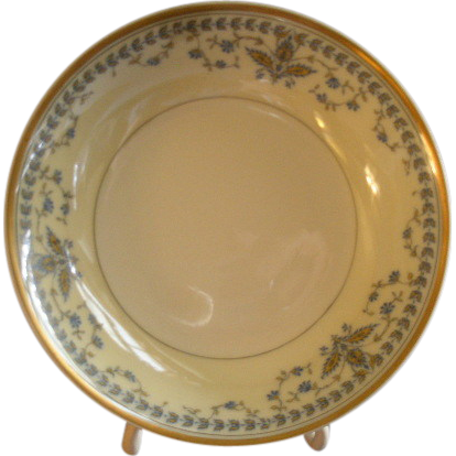 "Haviland & Co. Limoges Arts & Crafts ""English Oatmeal"" Pattern - Set of 6 Fruit/Sauce Bowls"