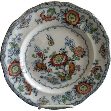 Ashworth Bros. 'Chinoiserie Oriental' Pattern B9464 Dinner Plate
