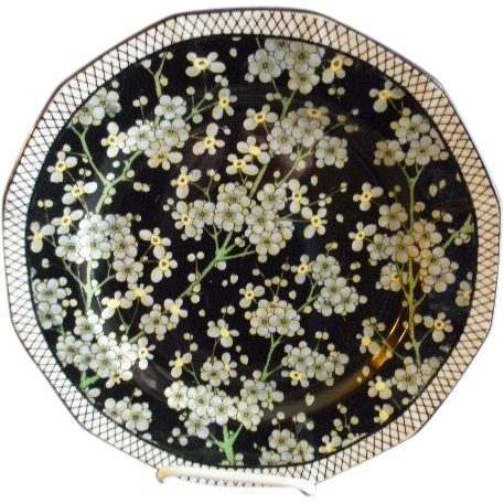 "Royal Doulton Transfer ""Floral"" Series Ware Plate - Prunus Pattern D3832"