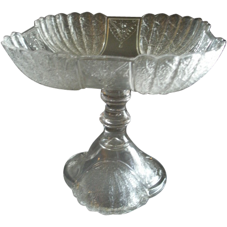 EAPG - George Duncan & Sons Co - Clear 'Shell & Tassel' Pedestal Open Compote