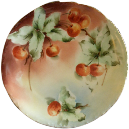 Rosenthal Porcelain Hand Painted Cabinet Plate w/Lush Cherries Motif