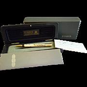 "Parker Duofold ""Centennial Series"" Pearl & Black w/23K Gold Plating Ballpoint Pen"