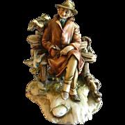 "Antonio Borsato ""Elderly Gentlemen on Bench with Friends"" Figurine"