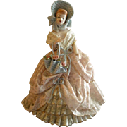 "Heirlooms of Tomorrow Ceramic Dresden-Type Lace Figurine - ""Penny"" #1190"