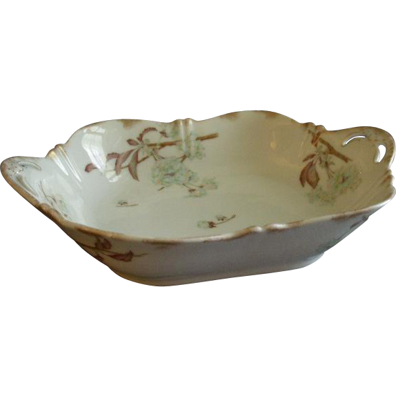 Theodore Haviland Open Vegetable Bowl - St Cloud Series w/Floral Motif - Schleiger #116 Blank